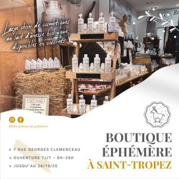 Boutique éphémère à Saint-Tropez